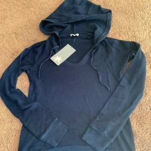 New With Tags Splendid Size XS Navy Waffle Hoodie